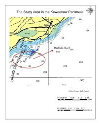 1 The Area Of Interest That Five Surveying Line Were Chosen