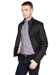 lyst burberry brit mandarin collar quilted casual jacket