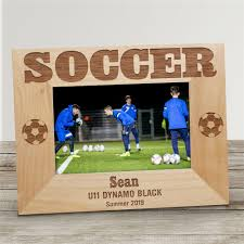 soccer wood picture frame personalized wood picture frames