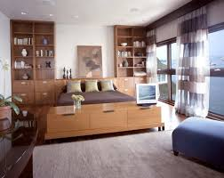 use built in storage units to create a polished look