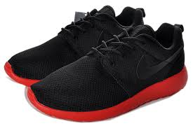 nike shoes red and black. nike roshe run mens black red mesh shoes and n