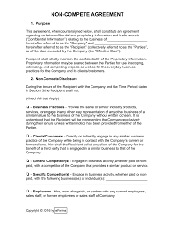 Non Compete Agreement Template NonCompete Agreement Templates eForms Free Fillable Forms 1