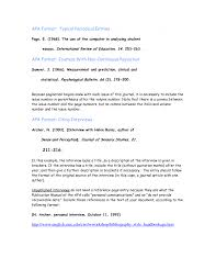 Format Paper 012 Apa Reference Page Citation Generator Interview Format