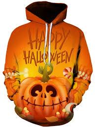Men's <b>Halloween Pumpkin</b> Monster Print <b>3D</b> Pattern Hoodie ...