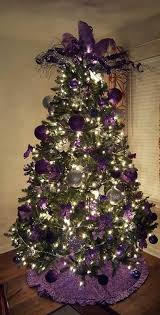 White, Silver and Purple Christmas Tree Decorations