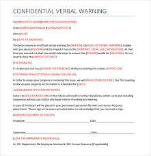 Verbal Warning Sample 10 Verbal Warning Templates Pdf Word Apple Pages