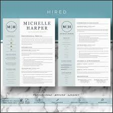 Modern Resume Templates Best Of Design Resume Templates Etsy Resume