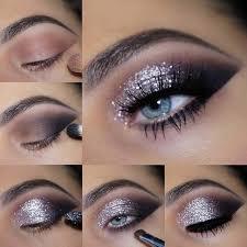 makeup tutorial silver glitter eye makeup tutorial