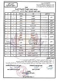 جدول امتحانات الصف الثالث الثانوي الأزهري