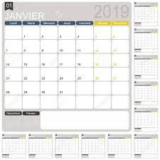 12 Week Calendar Template French Calendar Template For Year 2019 Set Of 12 Months Week