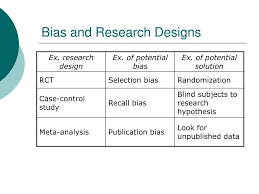 Bias In Research Design Ppt Medical Research Validity Bias Confounds