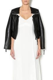 linea pelle triple zip jacket front cropped image