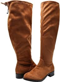 details about women knee high comfortable wide calf boots size 10 5 wide boot vegan suede new