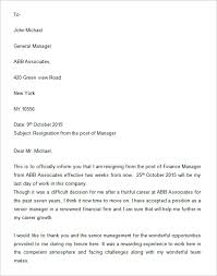 One Week Notice Resignation Letter 34 Two Weeks Notice Letter Templates Pdf Google Docs Ms