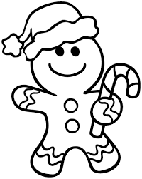 Gingerbread House Coloring Pages Free For Toddlers Christmas