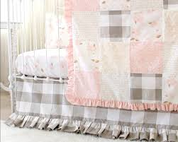 buffalo check crib skirt farmhouse crib