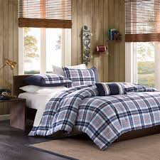 home essence teen lance plaid duvet cover bedding set intended for blue and grey duvet