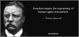 Human Rights Quotes Beauteous Theodore Roosevelt Quote Freedom Means The Supremacy Of Human
