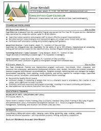 camp counselor resume  best resume sample