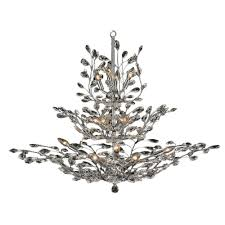 worldwide lighting aspen collection 18 light polished chrome and clear crystal chandelier