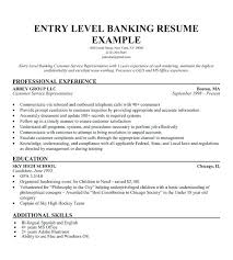 Entry Level Sales Resume Resume Entry Level Banking Customer Service