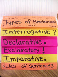 Types Of Flip Chart General Delks Army Types Of Sentences Flip Chart
