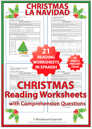 Christmas – Reading Comprehension Worksheets in Spanish | Woodward ...