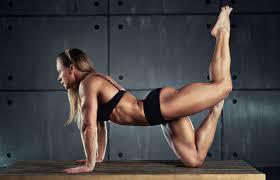 female bodybuilder pose images