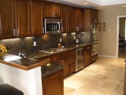 Travertine Flooring In Kitchen Slate Kitchen Floor White Cabinets Quicuacom