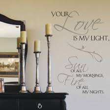 Wall Writing Decor Bedroom Decor Decorating Enticing Loves Quotes With Wall Decals