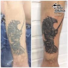коррекция старой татуировки коррекция ньюскул коррекция тату на руке
