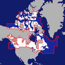 Aqua Map Usa Canada Bahamas And Bermuda Marine Lakes