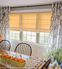Ideas for Multiple Windows  Window Makeover with Roman Shades