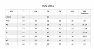 Breeches Size Chart Qopo