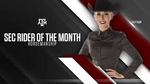 Aggie rider named SEC rider of the month