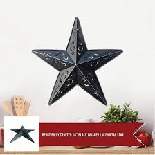 grila red lacy metal barn star