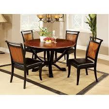 salida acacia black 48 round dining table set