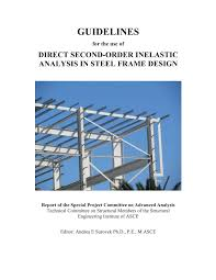 Structural Steel Drafting And Design 2nd Edition Pdf Pdf Advanced Analysis In Steel Frame Design Guidelines