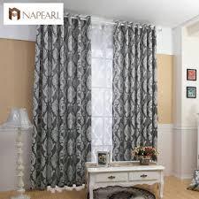Großhandel Napearl Vorhang Fenster Wohnzimmer Jacquard Fabrics Luxus