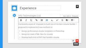 smart resume builder the resume builder