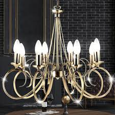 Led Kronleuchter Decken Lampe Altmessing Ess Zimmer