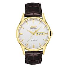 tissot visodate men s gold plated brown leather strap watch tissot visodate men s gold plated brown leather strap watch product number 3692744
