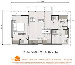 tiny houses floor plans. Tiny House 850 Sq Ft FabCab 1 Br Floor Plan 621 Houses Plans