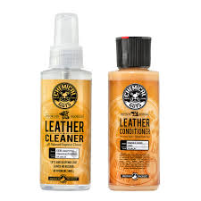 com chemical guys leather cleaner and conditioner complete leather care kit 4 oz 2 items automotive