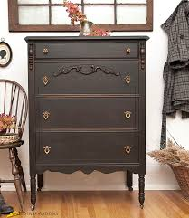 painted vintage furnitureCaviar Style Vintage Dresser Makeover  Salvaged Inspirations