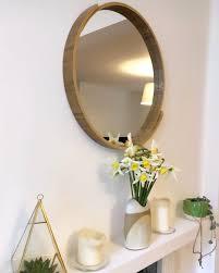 Vunda Plywood Runder Spiegel 50 Cm Schichtholz In Natur