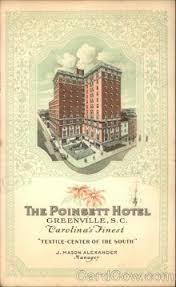 Image result for Poinsett hotel, Greenville S. Carolina photos