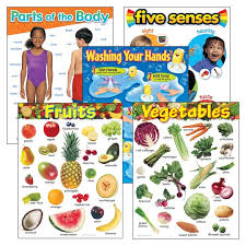 Healthy Living Chart Healthy Living Learning Charts Combo Pack Set Of 5