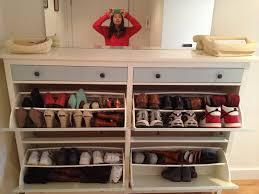 Ikea Shoe Rack Wedded Hemnes Shoe Cabinets Twined And Painted Ikea Hackers