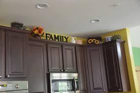 decor unique above cabinet decor ideas for above kitchen cabinets